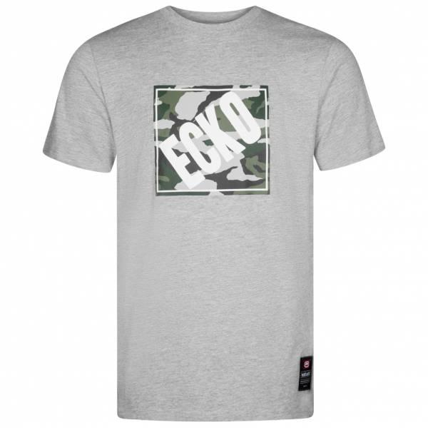 Ecko Unltd. Camo Square Grahpic Herren T-Shirt ESK4368 Grey Marl