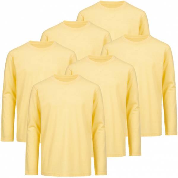 RUSSELL Longsleeve Tee 6er-Pack Kinder Shirt 0R167B0-Yellow-Marl