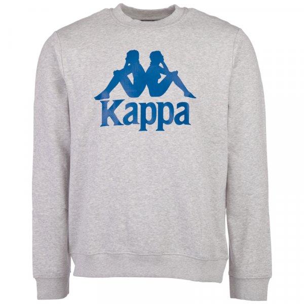 Kappa Herren Sweatshirt Sertum Pullover 703797-19M Grey Melange
