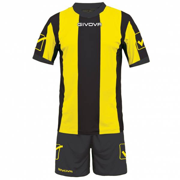 Givova Football Kit Jersey with Shorts Kit Catalano yellow / black
