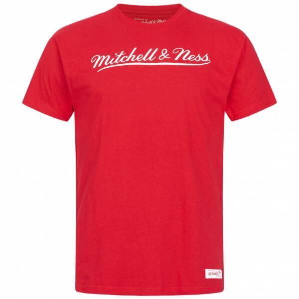 Mitchell & Ness Script Hombre Camiseta MN-BRA-SCRPTLOGOTRAD-REDWHT