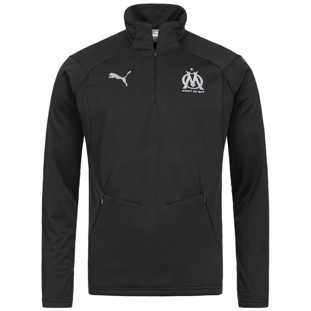 Olympique de Marseille PUMA Uomo Fleece 14 Zip Top 753989 05