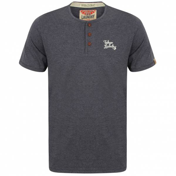 Tokyo Laundry Westby Herren T-Shirt 1C10016 Mood Indigo Marl