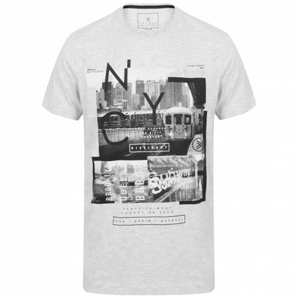 DNM Dissident Stations Heren T-shirt 1C12386 Ice Grey
