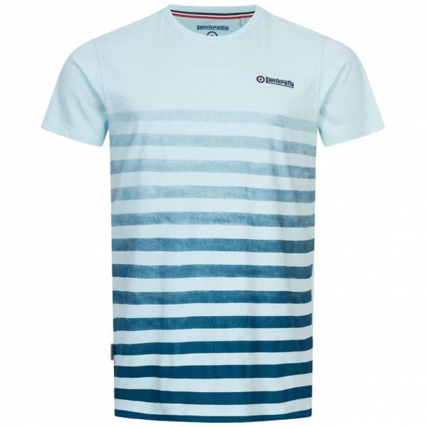 Lambretta Fade Stripe Herren T-Shirt SS5290-COOL BLUE