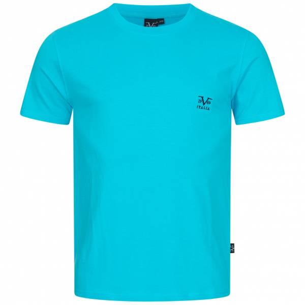19V69 Versace 1969 Basic Logo Herren T-Shirt VI20SS0007B türkis
