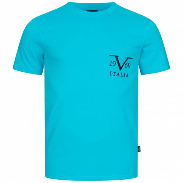 19V69 Versace 1969 Basic Big Logo Herren T-Shirt VI20SS0008B türkis