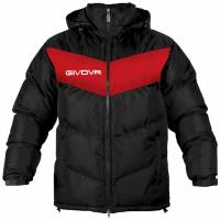 Givova Winter Jacket Giubbotto Podio black / red