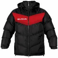 Givova Winterjas Giubbotto Podio zwart / rood