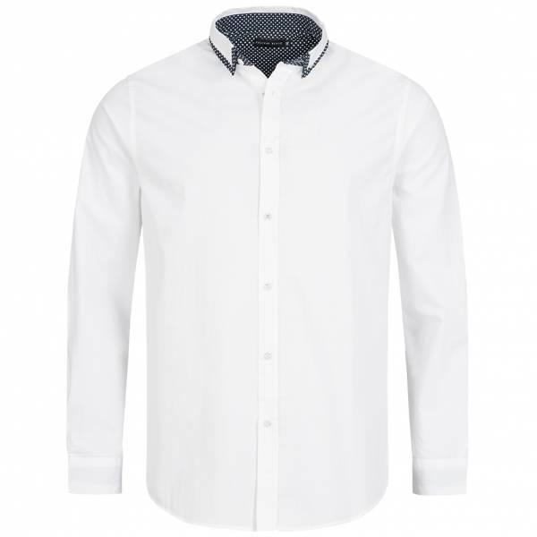 Process Black Shade Herren Langarm Hemd MSH-PB69SHADE Optic White