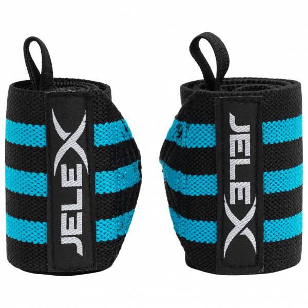 JELEX Strong Fitness Handgelenkbandagen schwarz-blau