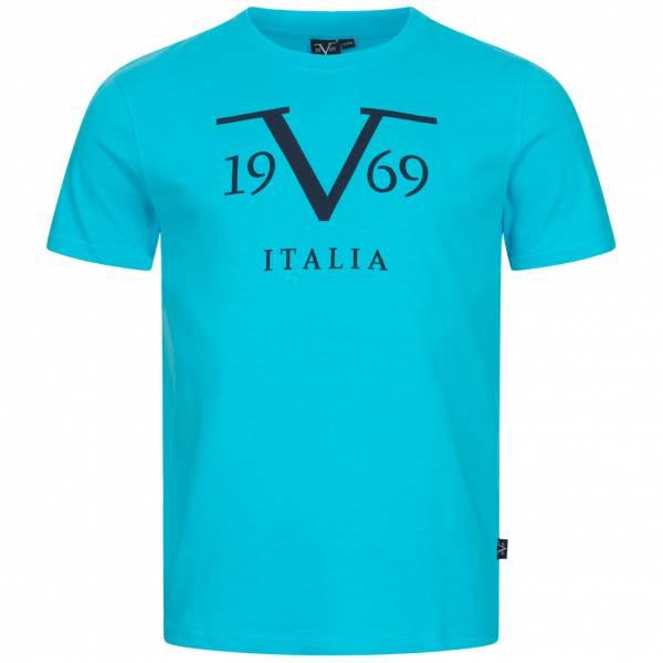 19V69 Versace 1969 Big Logo Stampato Herren T-Shirt VI20SS0011B türkis