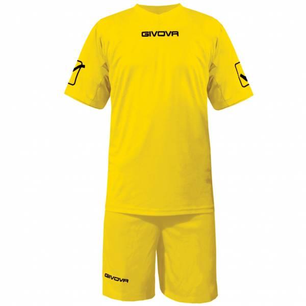 Givova Fußball Set Trikot mit Short Kit Givova gelb
