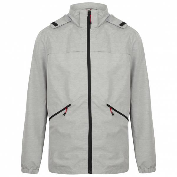 Tokyo Laundry Bevington Hooded Winbreaker Herren Jacke 1J10633 Silver Grey