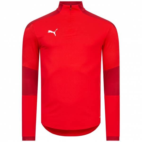 PUMA teamFINAL21 1/4 Zip Herren Sweatshirt 656968-01