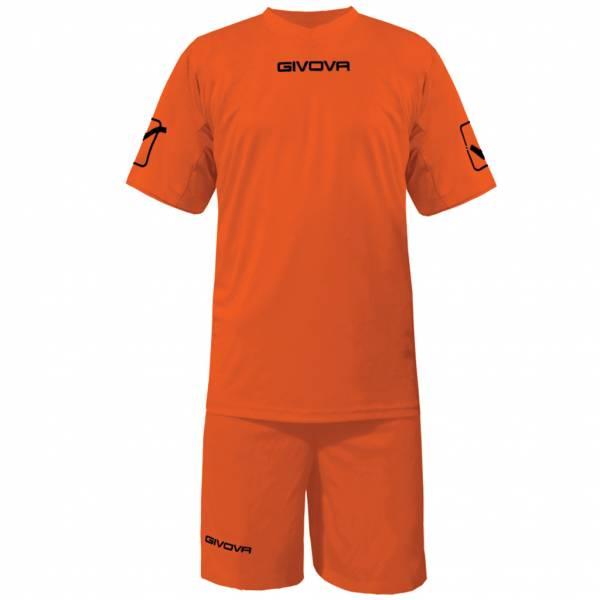 Givova Fußball Set Trikot mit Short Kit Givova orange