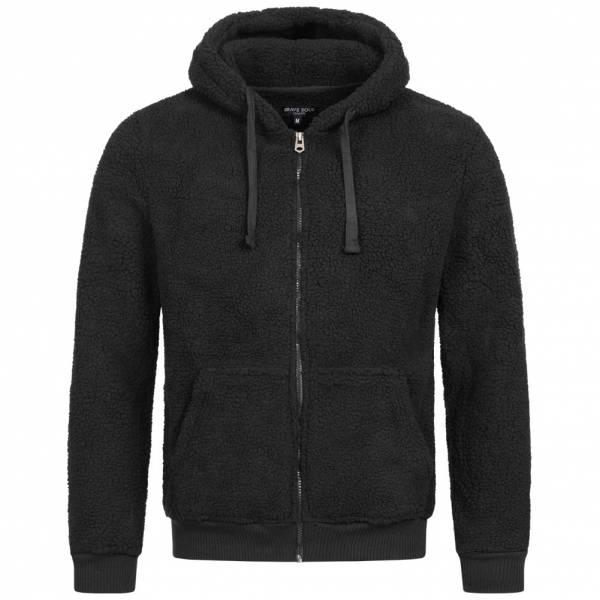 BRAVE SOUL Shaun Herren Hoodie Kapuzen Sweatshirt MSS-438SHAUN JET BLACK