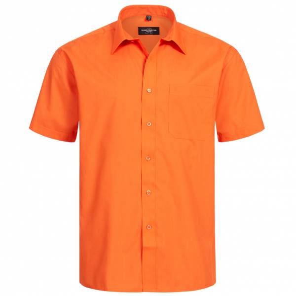 RUSSELL Short Sleeve Poly-Cotton Poplin Chemise 0R935M0-Orange