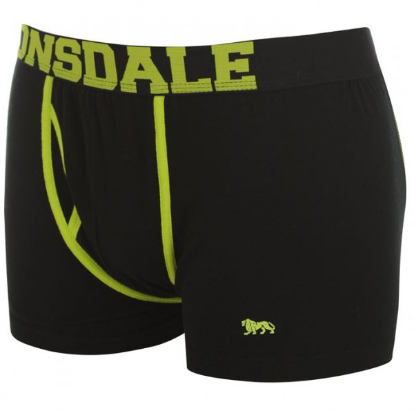 Lonsdale Boxershorts 2 St. black lime ohne Eingriff