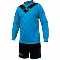 Givova Fußball Set Torwatrikot mit Short Kit Sanchez hellblau/schwarz