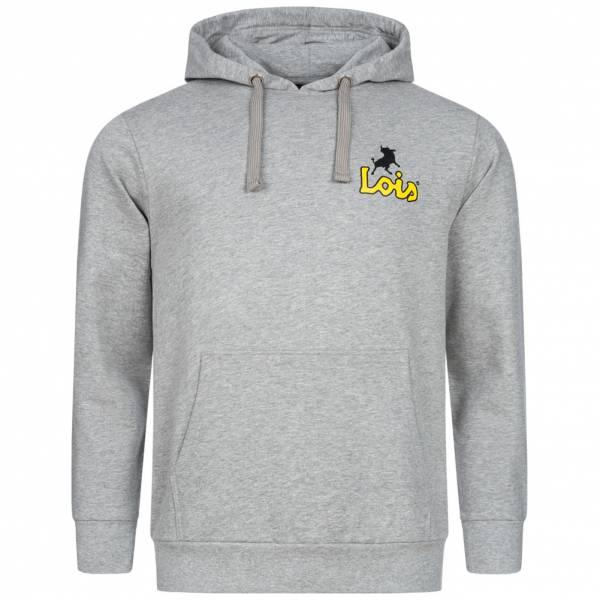 Lois Jeans Herren Kapuzen Sweatshirt 3E-LSSHM-Light Grey