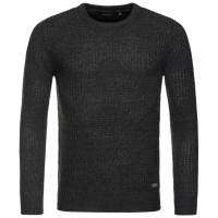 BRAVE SOUL Dennett Colour Twist Crew Herren Sweatshirt  MK-230DENNETT Black