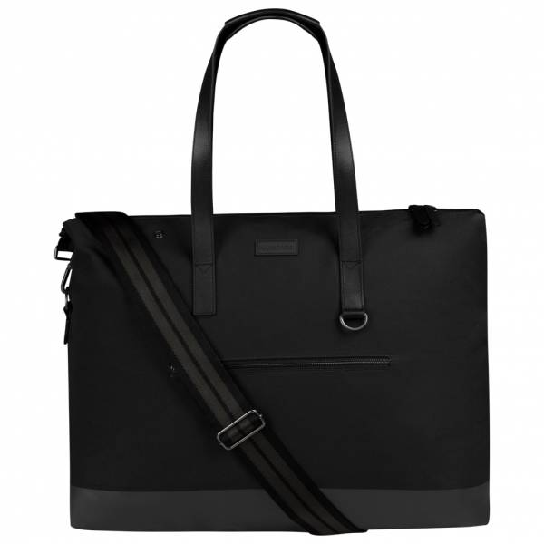 Hunter Canvas Moustache Weekend Donna Borsa UBS7009CPN-BLK