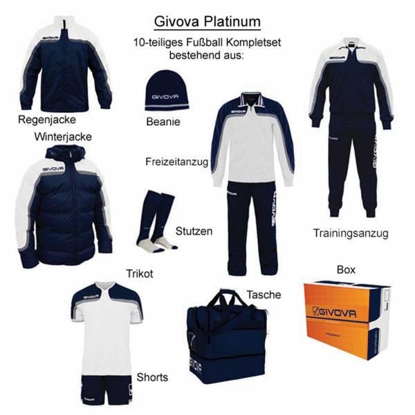 Givova Box Platinum Fußball Set 10-tlg. weiß/navy