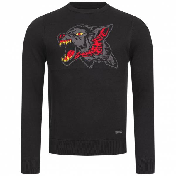 BRAVE SOUL Strum Herren Graphic Sweatshirt MK-230STRUM JET BLACK