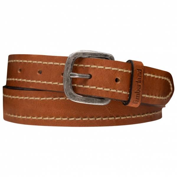 Timberland Stiched Leather Belt Herren Leder Gürtel A1DBO-212