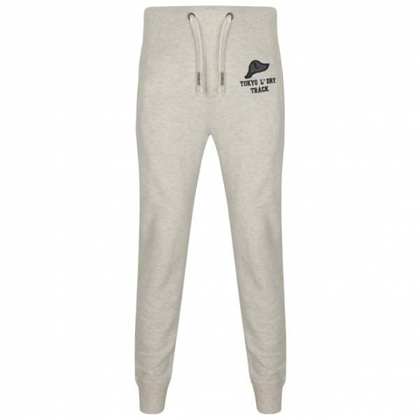 Tokyo Laundry Hollow Cuffed Joggers Herren Sweatpants 1F10890 Heather Grey