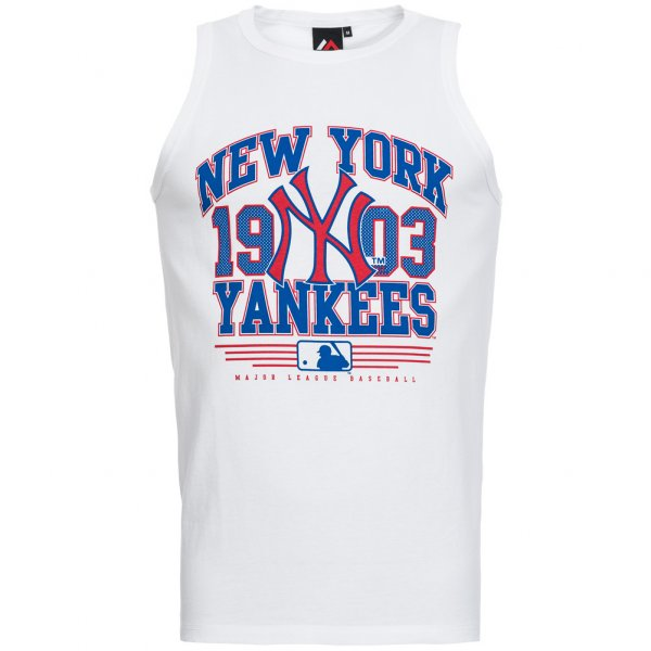 New York Yankees Majestic Kato MLB Tank Top Shirt weiß
