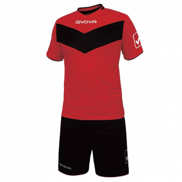 Givova football set jersey with Short Vittoria red / black