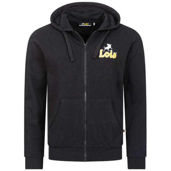 Lois Jeans Small Logo Herren Sweatjacke 5E-LHJKTM-SL-Black