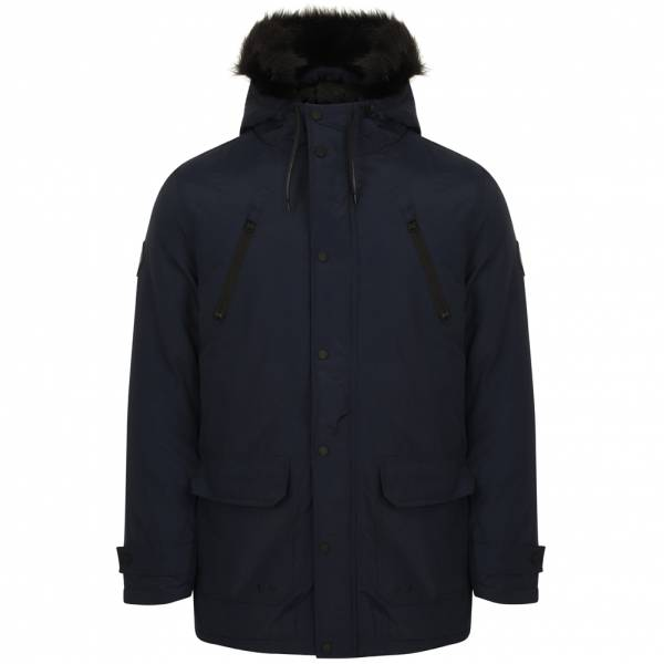 Tokyo Laundry Lenart Fur Trim Hooded Parka Jacket Herren Jacke 1J11547A