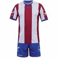 Givova Fußball Set Trikot mit Short Kit Catalano rot/weiß