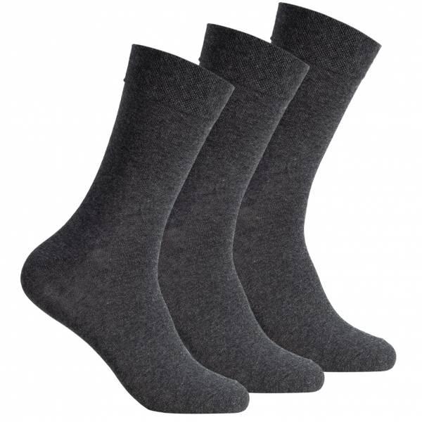 SportSpar Hommes Confort Chaussettes 3 paires 174228 Anthracite
