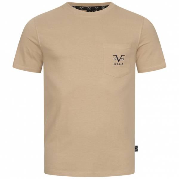 19V69 Versace 1969 Taschino Ricamo Herren T-Shirt VI20SS0009B beige