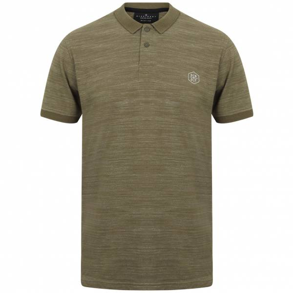 DNM Dissident Matsuki Men Polo Shirt 1X12442 Turtle Khaki