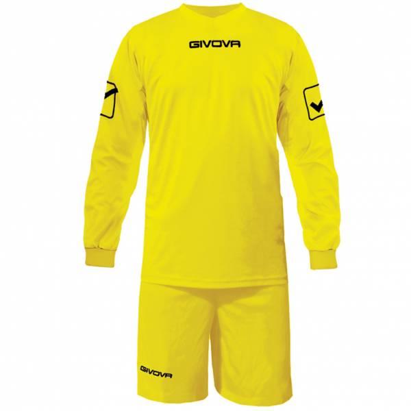 Givova Soccer Set Long-sleeved Jersey with Short Kit Givova yellow