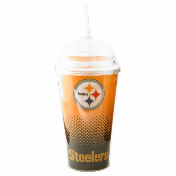 Pittsburgh Steelers NFL Fan Trinkbecher mit Trinkhalm DWNFLFADETSRPS