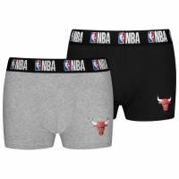 Chicago Bulls NBA Herren 2er Pack Boxershorts 8003712-BUL