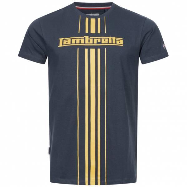 Lambretta Stripe Print Herren T-Shirt SS5266-NAVY
