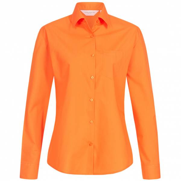 RUSSELL Longsleeve Poly Cotton Poplin Women Shirt 0R934F0-Orange