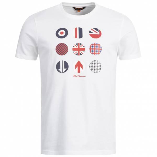 BEN SHERMAN Logo Heren T-shirt 0058164-010 Wit
