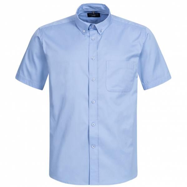 RUSSELL Short Sleeve Classic Twill Herren Hemd 0R917M0-Blue