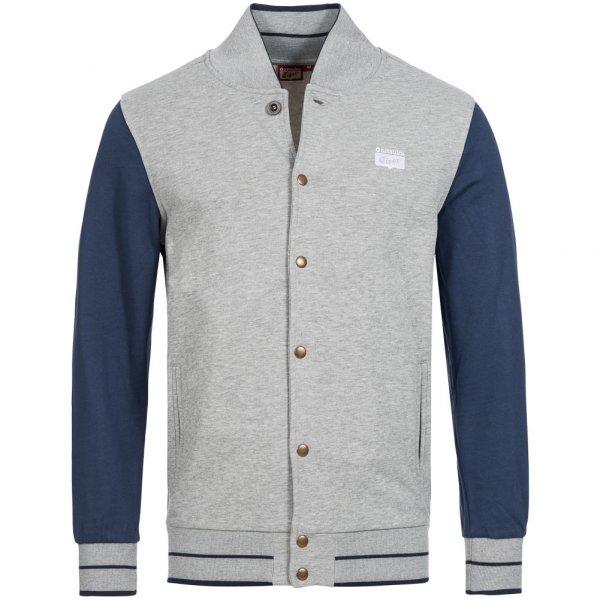 Asics Collegiate Varsity Jacket Herren Freizeit Jacke 121162-0714 grau