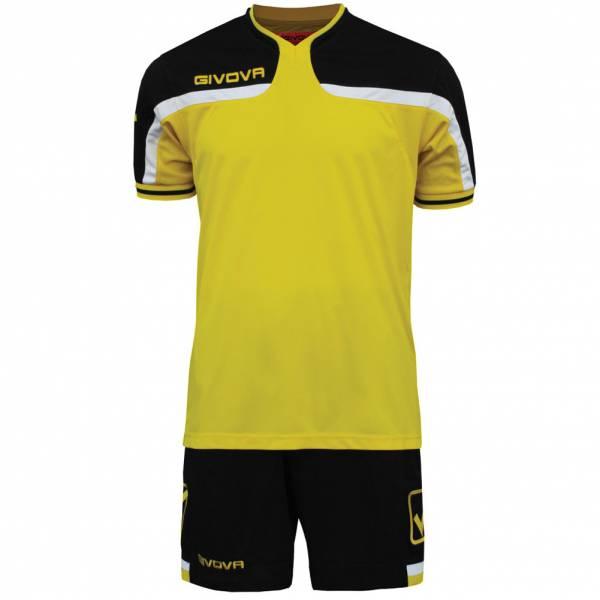 Maillot de foot Givova avec Short Kit America jaune / noir