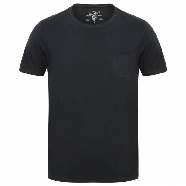 Tokyo Laundry Zella Cotton Pocket T-Shirt da uomo 1C10284 Dark Navy