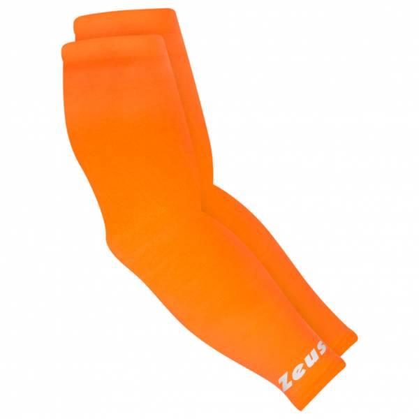 Zeus Sleeve-compression armsleeves elleboogbandage neon oranje
